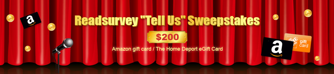 $200 Amazon gift card or a $200 The Home Deport eGift Card