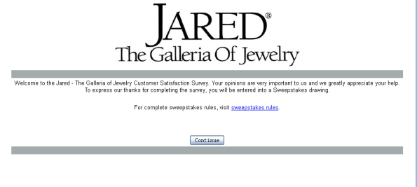 Jared Jewelry Customer Survey