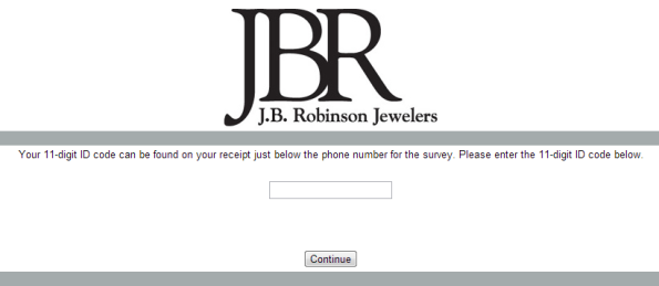 J.B. Robinson Jewelers Customer Satisfaction Survey