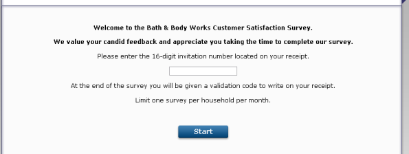 Bath & Body Works Customer Satisfaction Survey