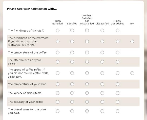 Denny's Listens Guest Satisfaction Survey