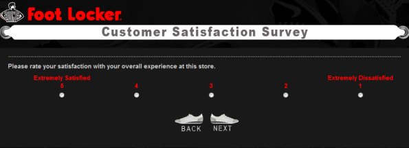 Foot Locker Customer Satisfaction Survey