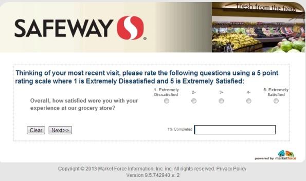 Safeway Grocery Customer Satisfaction Survey