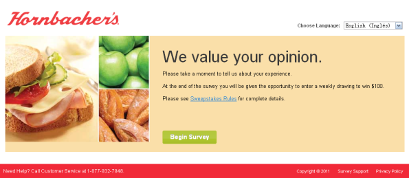 Hornbacher's Listens Customer Survey
