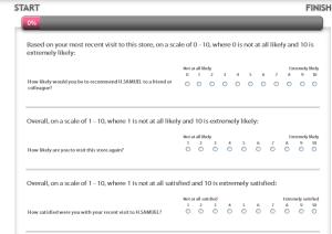 H.Samuel UK Store Feedback Survey