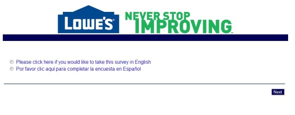 Lowe's Customer Satisfaction Survey