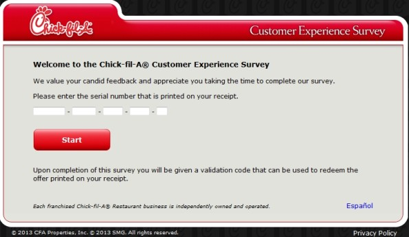 My Chick-fil-A Visit Customer Experience Survey