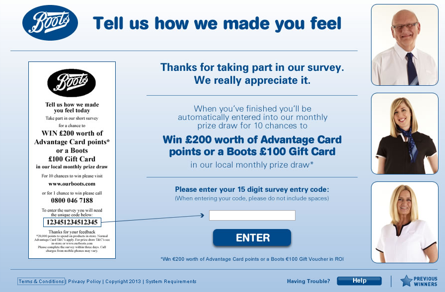 Our Boots Customer Satisfaction Survey