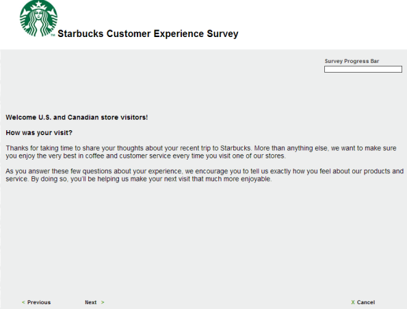 Starbucks Customer Experience Survey