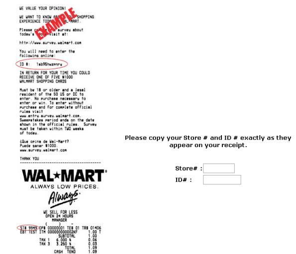 WalMart Customer Feedback Survey