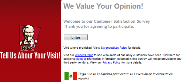 KFC Guest Satisfaction Survey UK