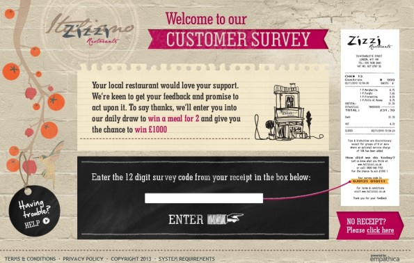 Zizzi Customer Satisfactory Survey
