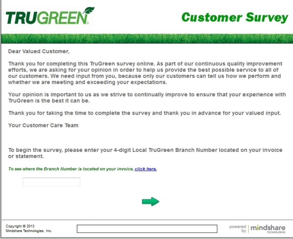 TruGreen Customer Satisfaction Survey