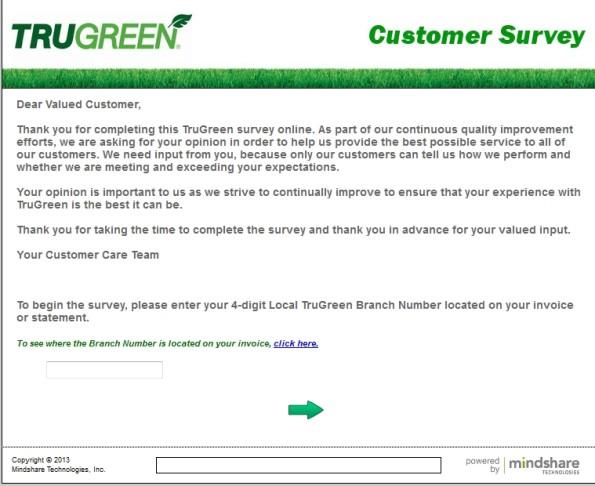 TruGreen Customer Satisfaction Survey