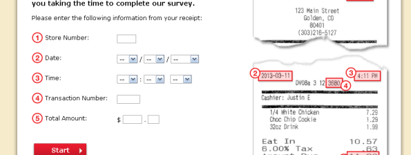 Boston Market Guest Satisfaction Survey