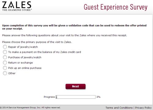 Zales Guest Experience Survey
