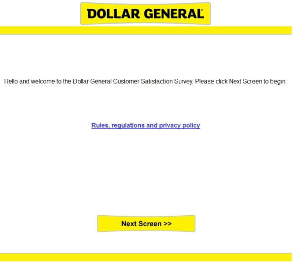 Dollar General Guest Experience Survey