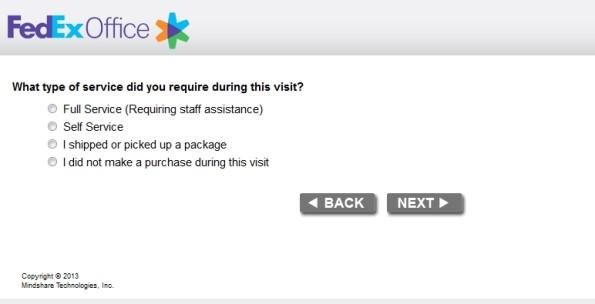 FedEX Customer Satisfaction Survey