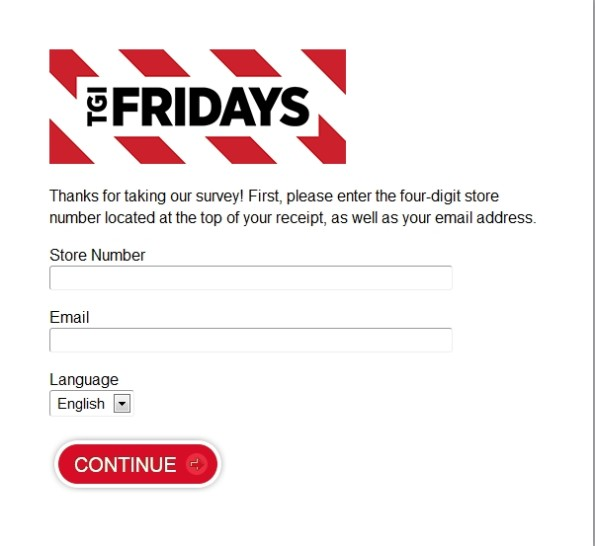 TGI Friday's Customer Satisfaction Survey