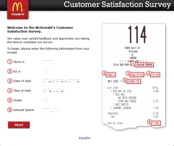 McDonald's Customer Experience Survey