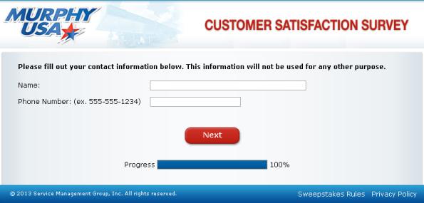 Murphy Customer Satisfaction Survey