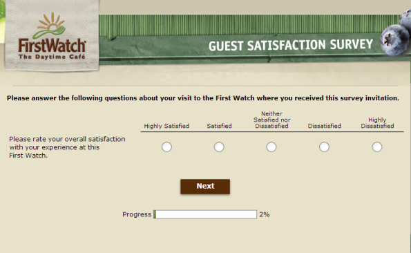 First Watch Guest Satisfaction Survey