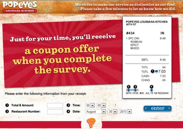 Popeyes Customer Feedback Survey