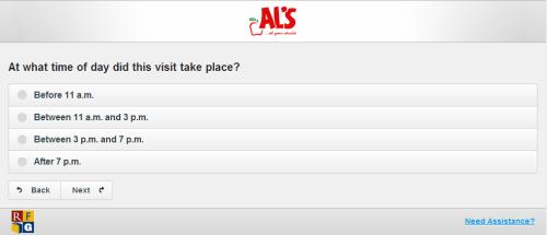 AL's Customer Satisfaction Survey