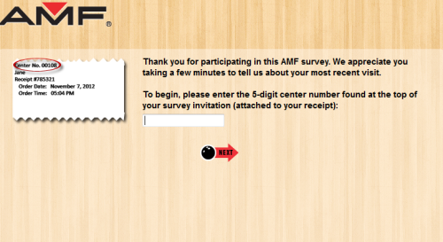 AMF Bowling Center Customer Satisfaction Survey