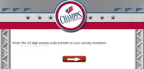 Champps Americana Customer Feedback Survey