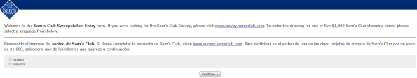 Sam's Club Customer Satisfaction Survey