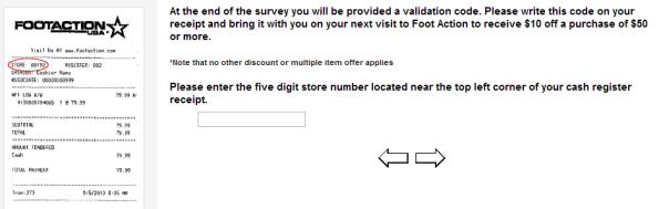 Foot Action Customer Satisfaction Survey