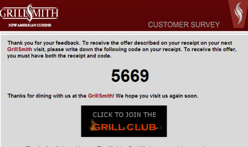 GrillSmith Customer Satisfaction Survey