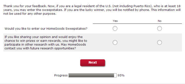 HomeGoods Customer Satisfaction Survey