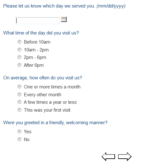 Survey Express Customer Dining Survey