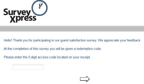 Survey Express Customer Dining Survey