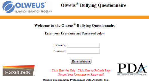 Hazelden Olweus Bullying Prevention Program Survey