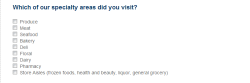Rate your satisfaction with the overall cleanliness of Vons store, the shopping atmosphere in the store, etc