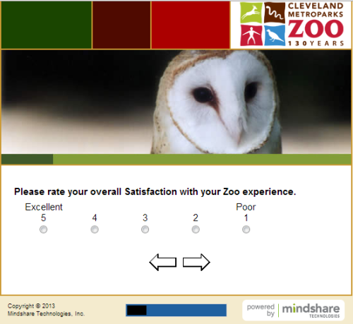 Cleveland Metroparks Zoo Guest Satisfaction Survey