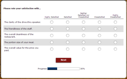 Long John Silver's Customer Feedback Survey