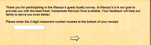 www.macayo.com - survey - 1