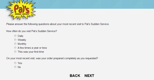 Pal's Customer Feedback Survey