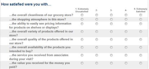 Safeway Guest Satisfaction Survey