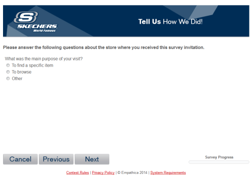 Skechers Customer Satisfaction Survey