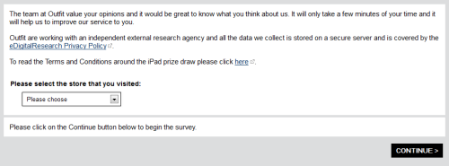 Outfit Customer Satisfaction Survey