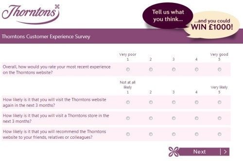 Thorntons Customer Satisfaction Survey