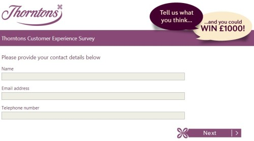 Thorntons Customer Satisfaction Survey