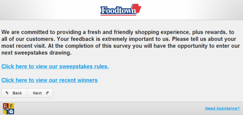 Foodtown Customer Feedback Survey