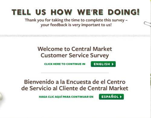Central Market Customer Feedback Survey