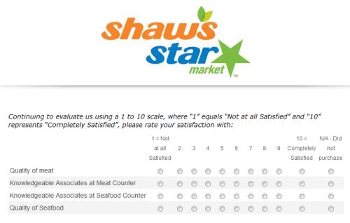 Star Market Customer Satisfaction Survey